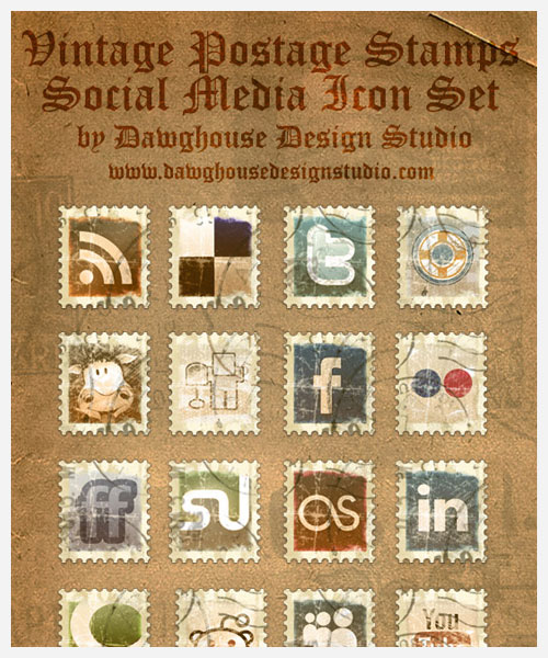 social media icons from dawghouse design studio