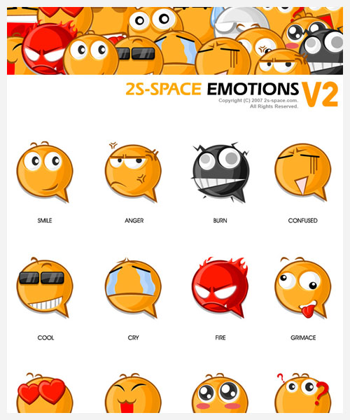emoticons by kirozeng@deviantart.com