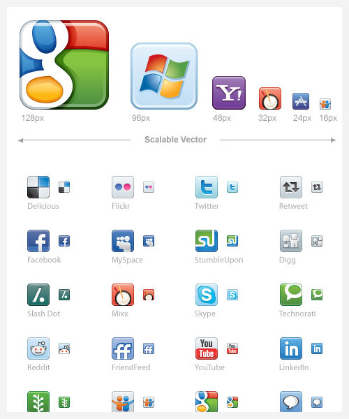 social media icons from icondock