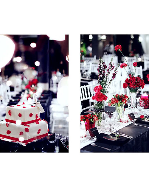 the cake and table set-up