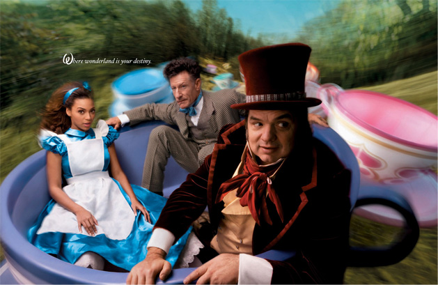Beyonce, Lyle Lovett and Oliver Platt in Alice in Wonderland