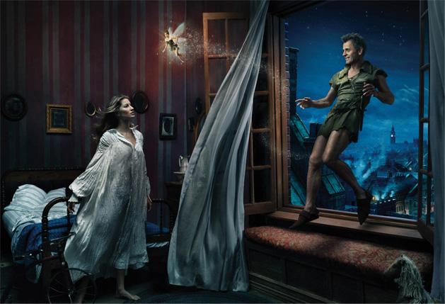 Gisele Bündchen, Tina Fey, Mikhail Baryshnikov in Peter Pan