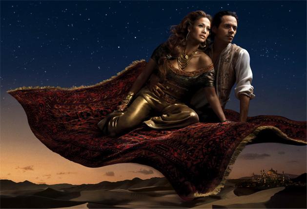 Jennifer Lopez and Marc Anthony as Princess Jasmin and Alladin
