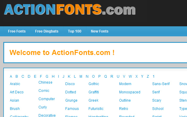 actionfonts.com
