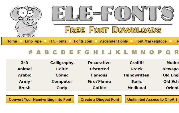 ele-fonts.com