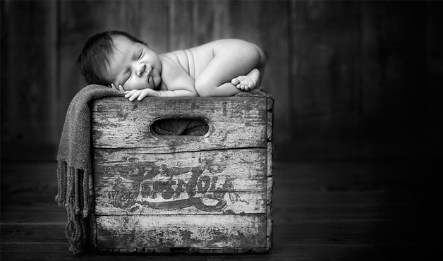 Box-top Baby by Carrie Sandoval