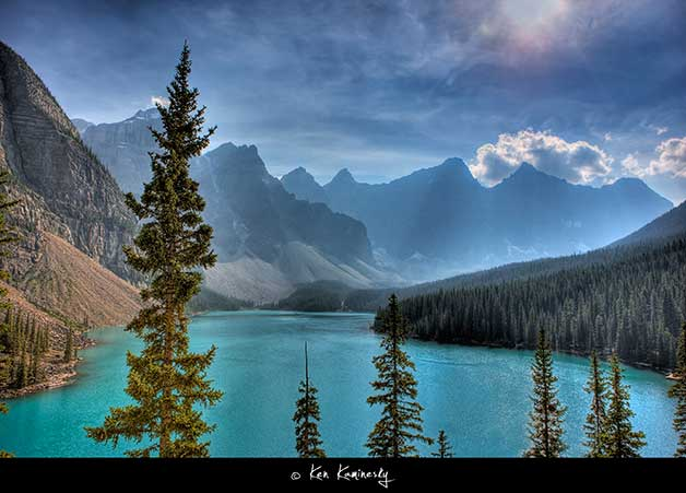 Banff-Lake-Moraine by Ken Kaminesky
