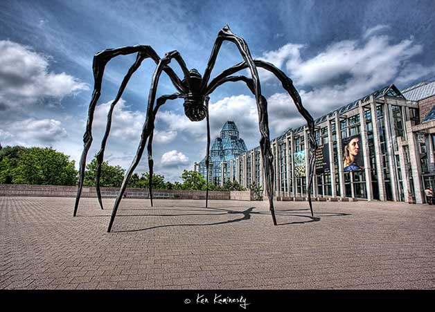 Ottawa-Maman-sculpture-by-Louise-Bourgeois shot by Ken Kaminesky