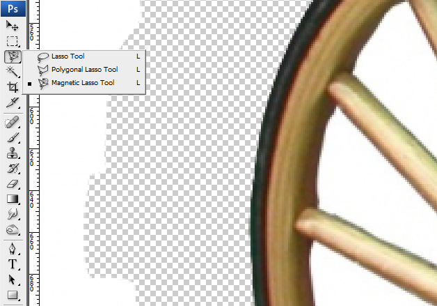 Lasso -How to extract an image from its background in Photoshop