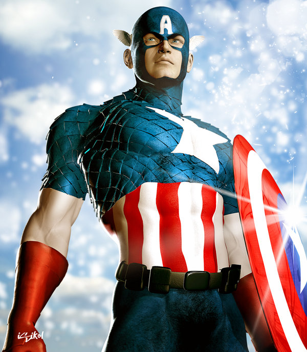 CAPTAIN_AMERICA_ICONIC_II_by_isikol