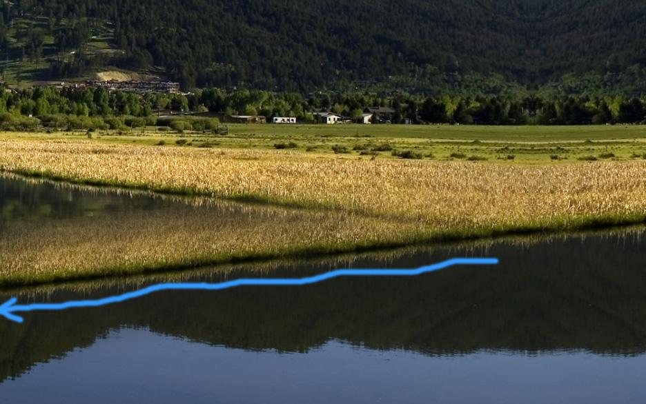 landscape river bank extended