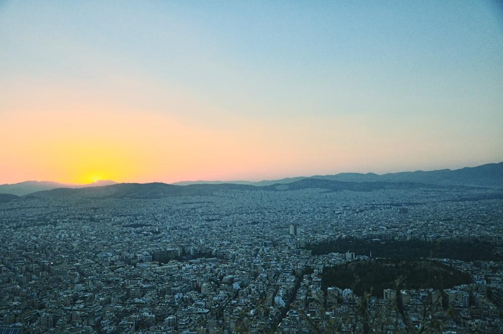 Sunset from Mount Lykavittos